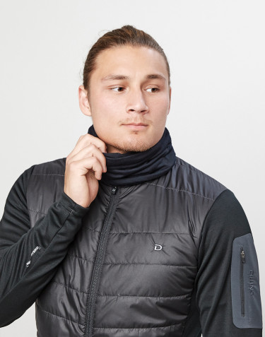 Halsedisse til mænd i eksklusiv merino uld sort