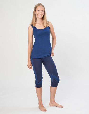 ¾ Dame leggings i økologisk eksklusiv merino uld navy