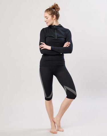 ¾ Dame leggings i økologisk eksklusiv merino uld sort