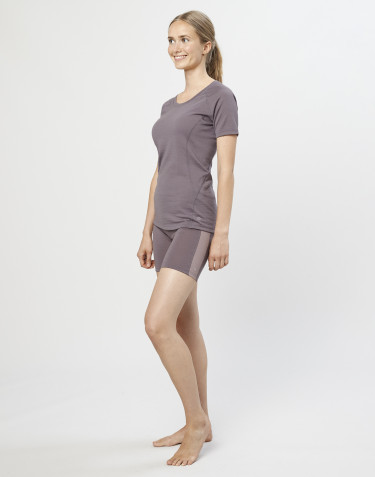 Uldshorts til damer - økologisk eksklusiv merino uld lavendel grå