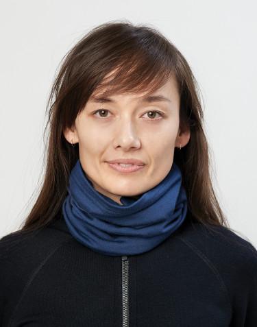Halsedisse til dame i økologisk eksklusiv merino uld mørk blå