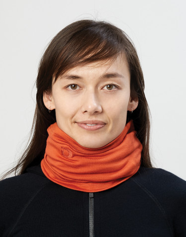 Halsedisse til dame i økologisk eksklusiv merino uld brændt orange