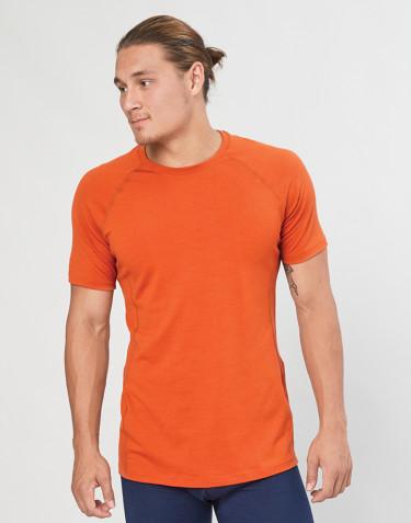 T-shirt herre - økologisk eksklusiv merino uld orange