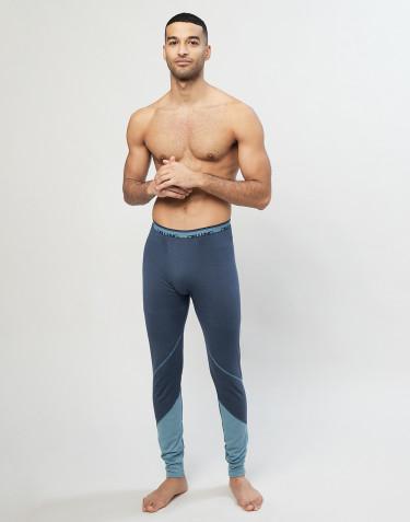 Leggings i økologisk eksklusiv merino uld Gråblå