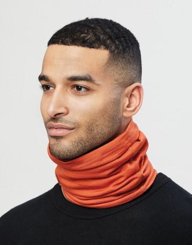 Halsedisse til mænd i økologisk eksklusiv merino uld brændt orange