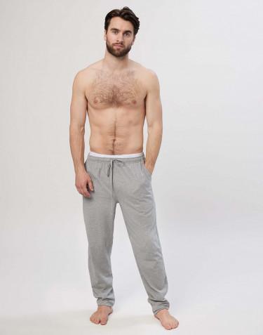 Natbukser til mænd i bomuld gråmelange