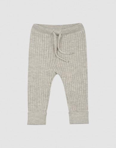 Baby bukser i strik gråmelange