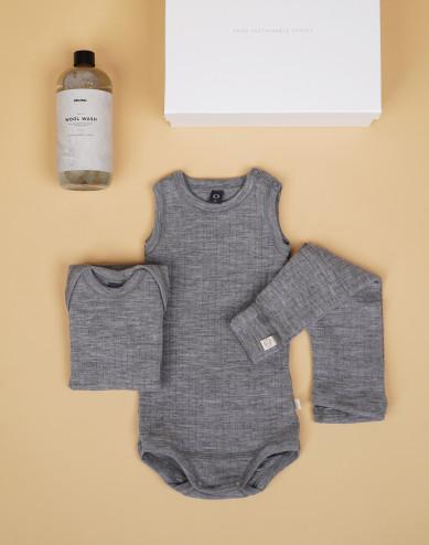 Babypakke grå str. 62