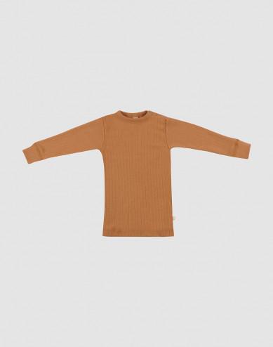 Merino trøje i bred rib til baby karamel