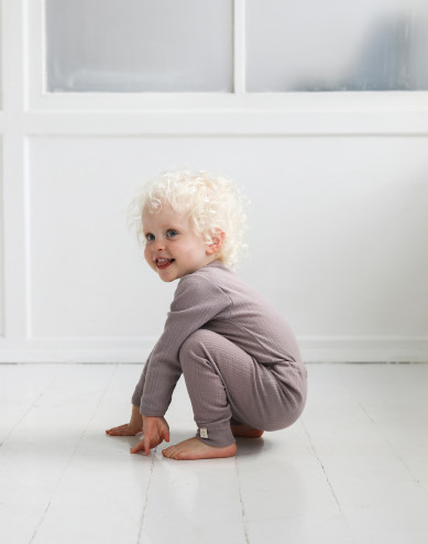Merinould langærmet body til baby