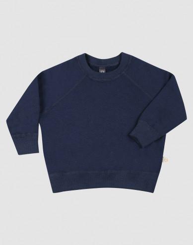 Merinouldfrotté sweatshirt til baby