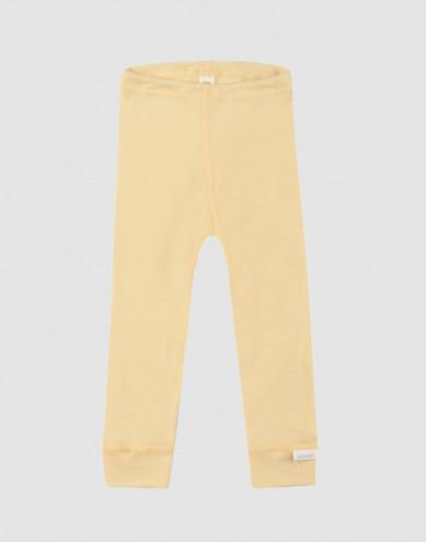Leggings til baby i økologisk uld-silke Lys gul