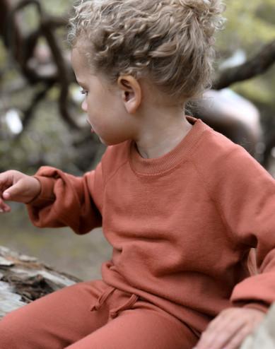 Merinouldfrotté sweatshirt med vide ærmer til børn