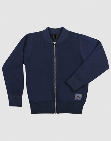 Merinouldfrotté jakke til børn