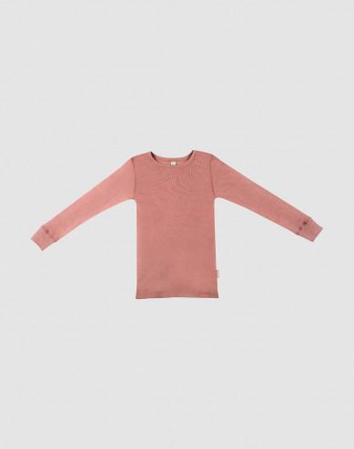 Uldtrøje til børn mørk rosa