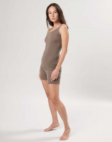 Merinouldshorts med bred elastik til kvinder
