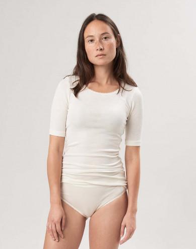 Merinould/silke T-shirt til kvinder