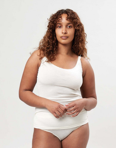 Merinould/silke undertrøje til kvinder