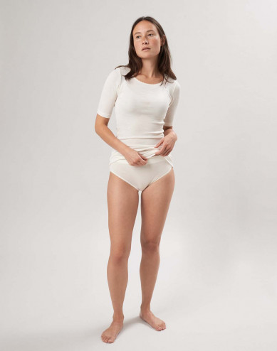 Merinould/silke højtaljede trusser til kvinder