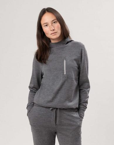Merinouldhættetrøje til kvinder